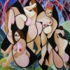 GEORGIE TIER - The Bathers, Original, 45.5 x 55.5 cm, CHF 790.-